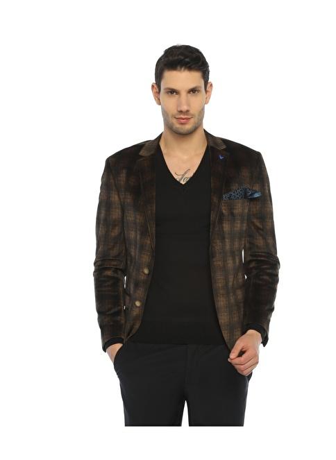Comienzo Slim Fit Blazer Ceket Taba